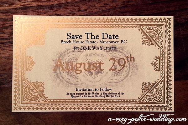hogwarts express save the date magnets - Harry Potter Wedding Invitations