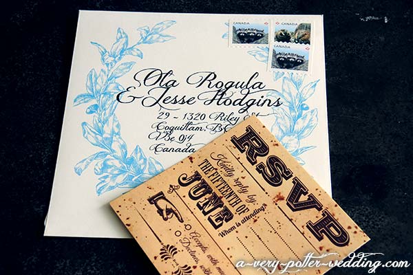 RSVP card & RSVP envelope